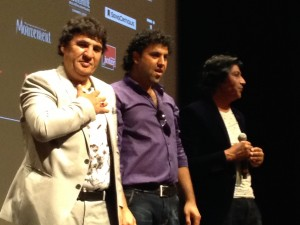 Salim Shaheen et ses deux compères venus d'Afghanistan