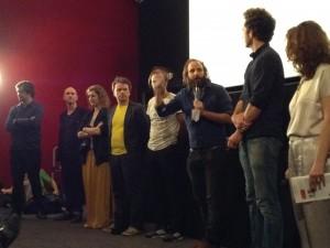 Au cinéma Les Arcades, section ACID, l'équipe de Vincent Macaigne