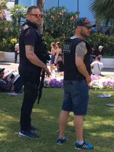 police tatouée