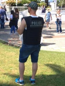 la police en short
