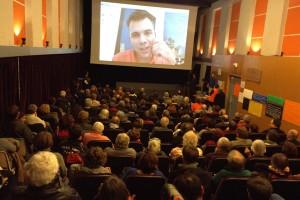 2016 - Premier skype à Cinémolette : en duplex avec Gilles Perret pour son film La Sociale